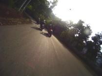 Salah seorang Ducatista sedang overtaking.